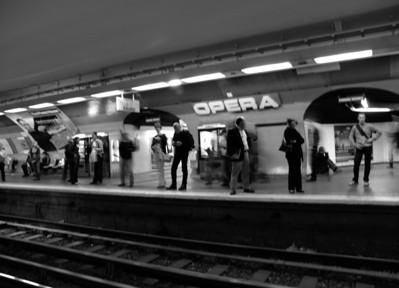 Opera Metro , Paris France