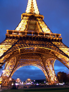 Under the Eiffel Tower, Paris, France