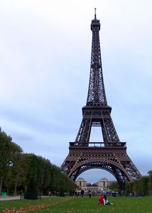 The Eiffel Tower, as seen from the Parc du Champ de Mars, Paris, France