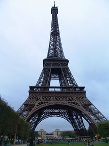 In 1923 a journalist rode a bicycle down the Eiffel Tower from the first level. Some accounts say he rode down the stairs, others suggest the exterior of one of the tower's four legs which slope outward.