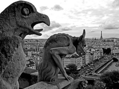 Notre Dame Gargoyles overlook Paris