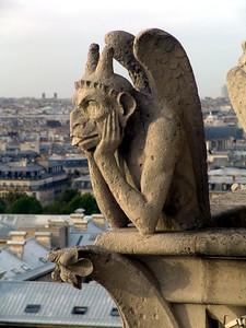 Gargoyles on top of the Notre Dame, Paris France