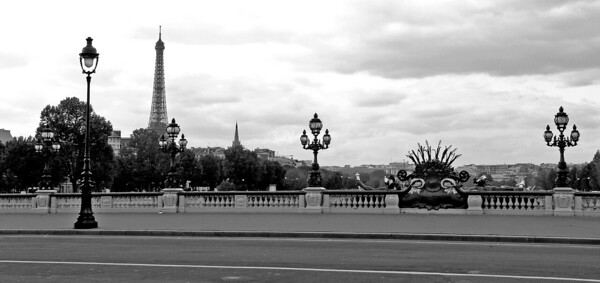 Pont Alexander III  and Eiffel Tower, Paris, France