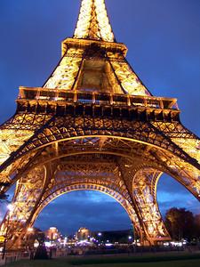 Under the Eiffel Tower, Paris, France