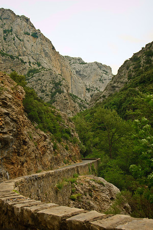 The Gorges de Galamus, a difficult drive