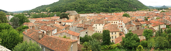 Panorama of the town from the Chateau