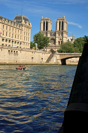 Notre Dame and the Seine River, Paris, France