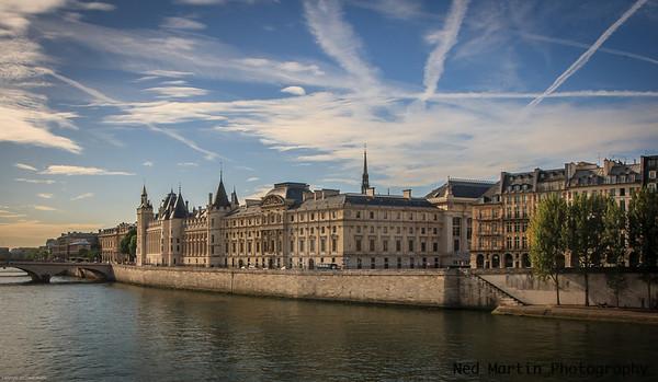 The Conciergerie on the Ile de la Cite in Paris, France.