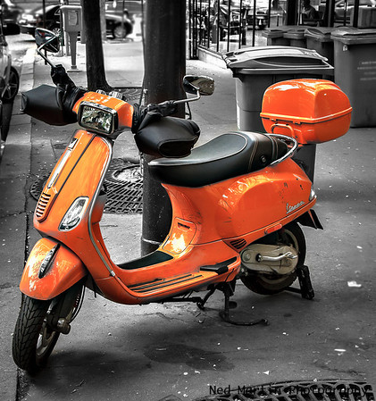 Vespa at Trocadero, Paris, France