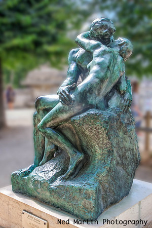 The Kiss by Rodin in the Jardin des Tuileries,