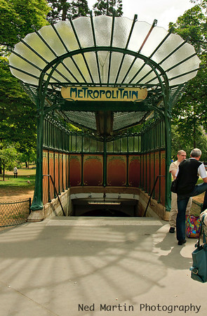 Classic Metro Entrance, Porte Dauphine, Paris, France