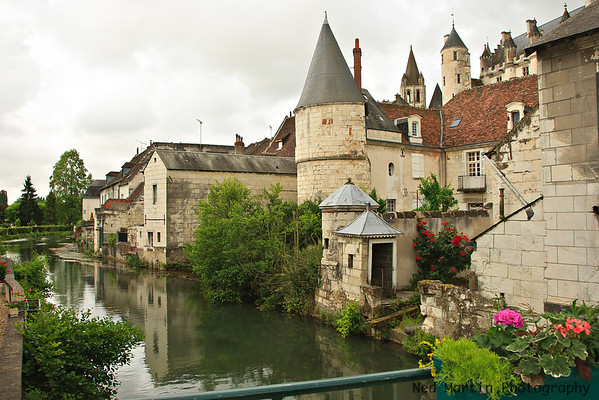 Chateau de Loches and the River Indre, Loches, France