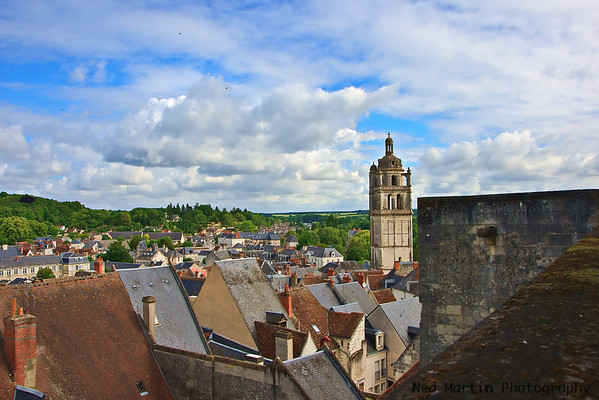 View of Loches, France