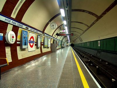 Hyde Park Corner, Tube Station, London