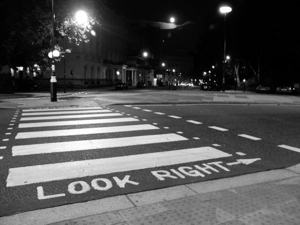 Look Right, London England