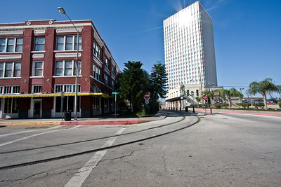 The Strand Area in Galveston, Texas - The large white tower is the American National Insurance Co. Building (ANICO)