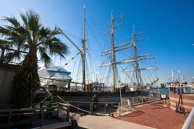 Elissa (1877-Tall Ship) on Pier 21 - Texas Seaport Museum in Galveston Texas