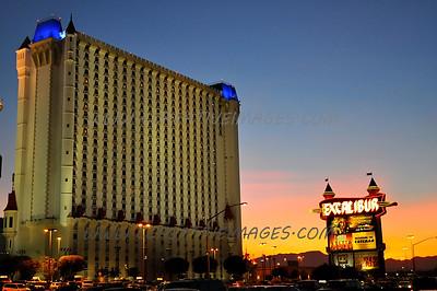 Las Vegas Nevada USA. Driving areas back rods. 12.2010