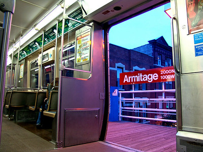 Chicago Armitage elevated station