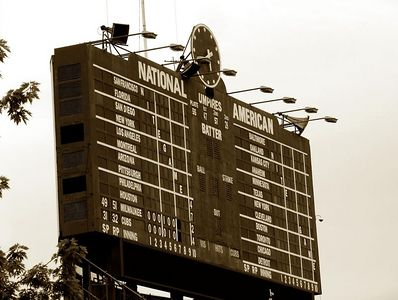 Wrigley score board