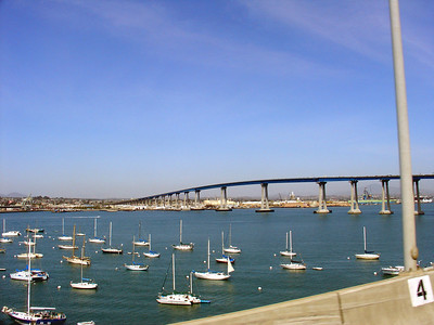 Exiting the San Diego-Coronado bridge