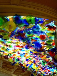 Dale Chihuly glass sculpture, Ceiling of Bellagio Hotel Lobby