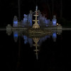 Night view of Fountain in Tower Grove Park in St. Louis, Missouri