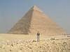 Tanya in front of Khafra's pyramid