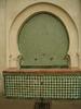 Vivid green and white tile patterning - Fes Medina