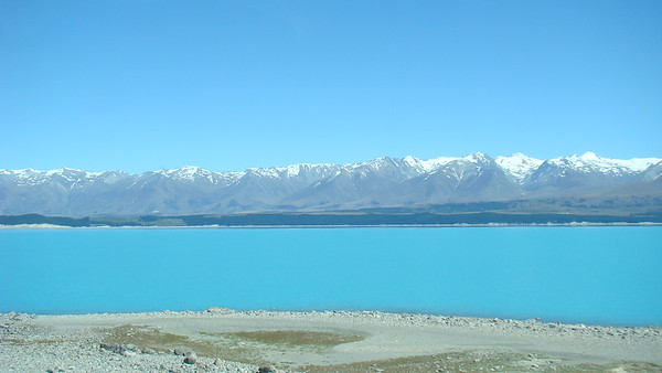 En route to Twizel (Lake Tekapo, Mount Cook, Mackenzie Basin)