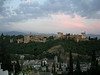 View of the Alhambra in the evening