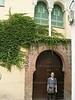 Tanya next to Moorish type door - Albayzin area
