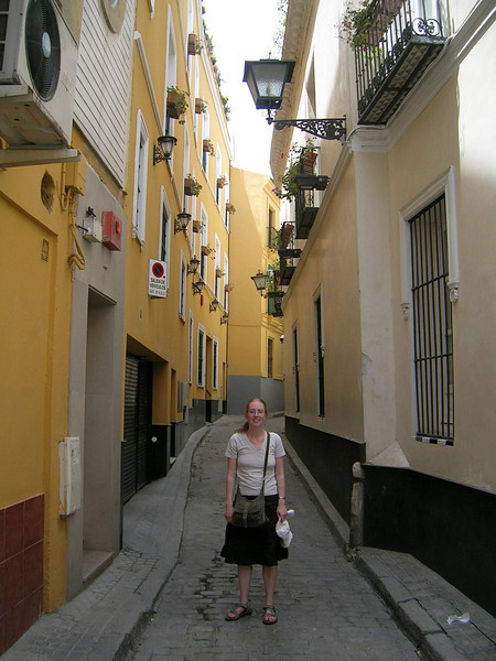 Tanya in a narrow street, Seville