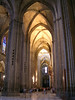 Inside the Sevilla Cathedral - with its huge carvenous space and towering pillars.