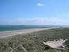 View of beach from near Bamburgh Castle