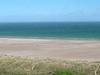 Bamburgh beach on a windy day