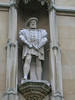 Henry VIII statue - King's College exterior wall