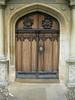 Beautiful wooden door - Peterhouse College