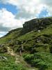 Richard on a rocky path