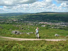 Tanya with the whole of Ilkley below