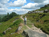 Tanya on a rocky hillside