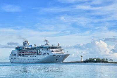 Cruise Ship entering Nassau Harbor