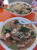 Lunch of noodle soup, Xining, China, 6/6/2012