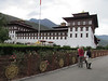 Tashichho Dzong, seat of National Gov and Central Monastic Body. Typical architecture.  Thimphu, Bhutan, 5/19/2012