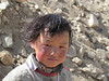 The people usually have red cheeks from the cold and wind. Tibet, 5/29/2012