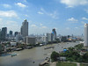 View from our Millennium Hilton hotel room in Bangkok, Thailand, 8/16/2012