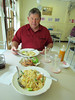 Lunch of pad thai for Shirley and chicken and fried rice and chicken wings for Ken.  The Kitchen, Bangkok, Thailand, 8/16/2012