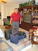 Ken leaving home at 6 am for our 42 day trip to Southeast Asia. 8/14/2012