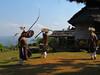 Whip Dance. The men whp a shield. Manggarai village 9/20/2012