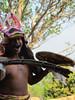 Whip Dance.  The men whip a shield, Manggarai village 9/20/2012
